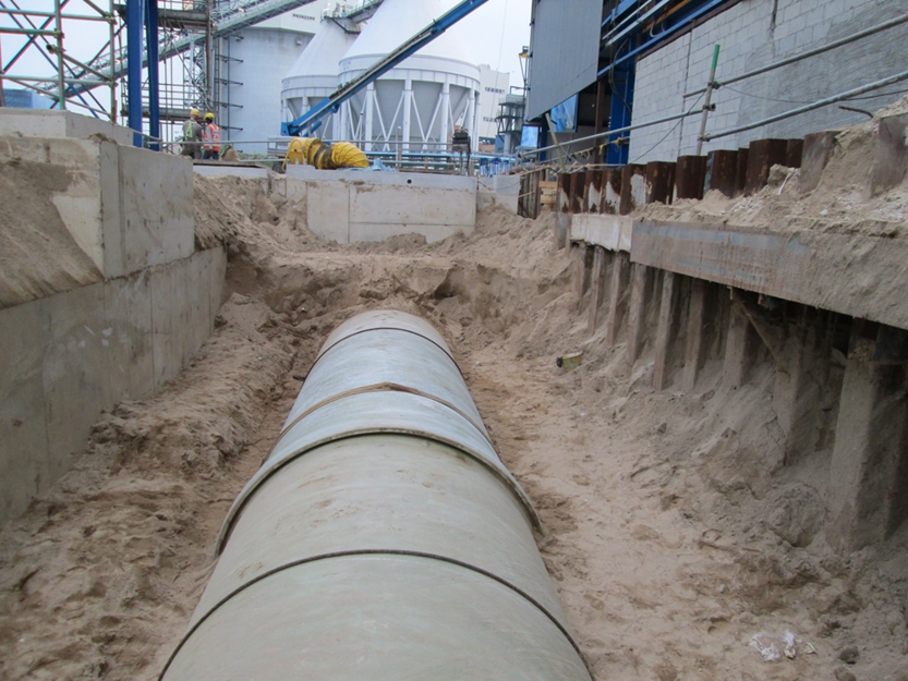 2012-2013 GMR Project D2200mm On Land GRP Pipe Lamination and Installation