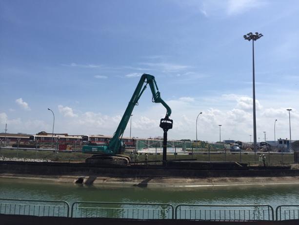 2015 LTA T3009 Sungei Ketapang Decking, Canal wall ERSS construction