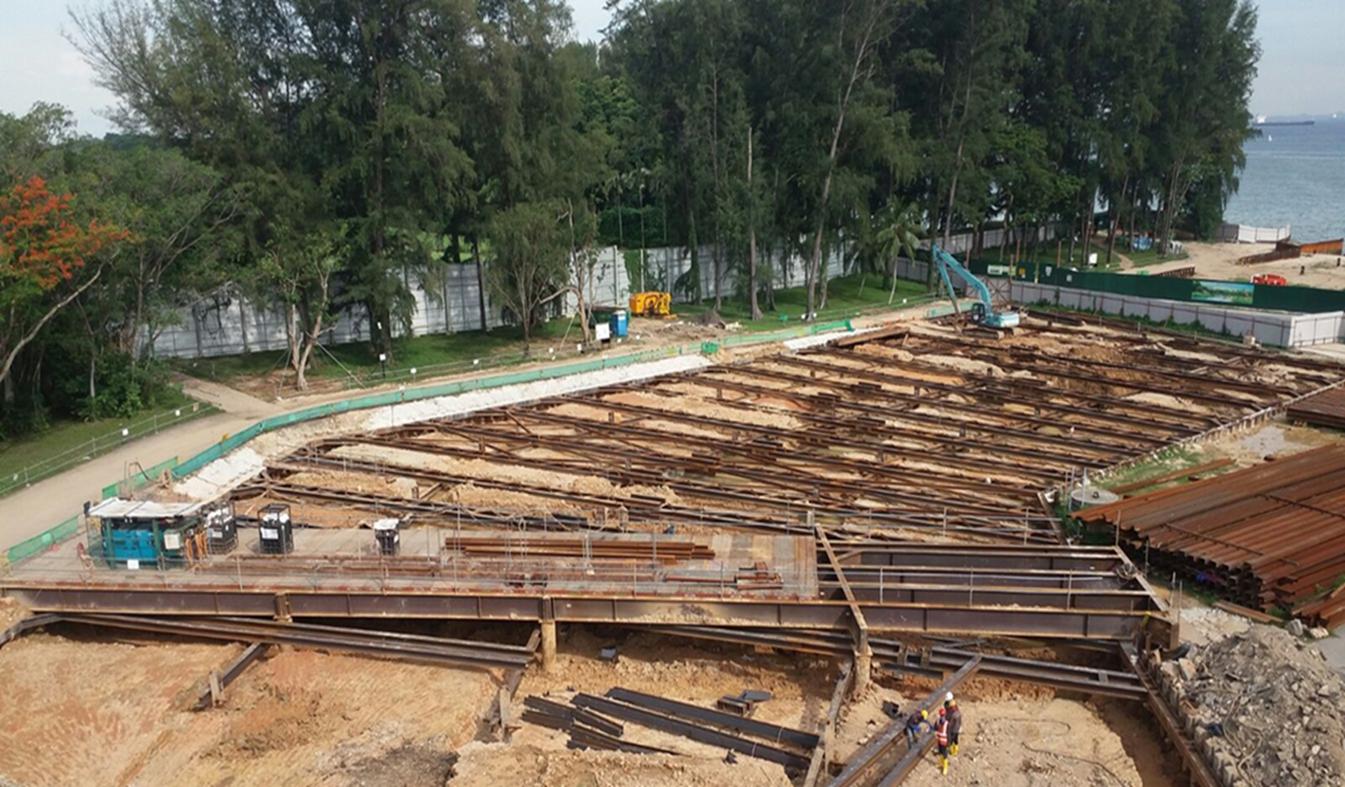 2016 Bedok Canal Improvement Contract 1, ERSS & Strutting