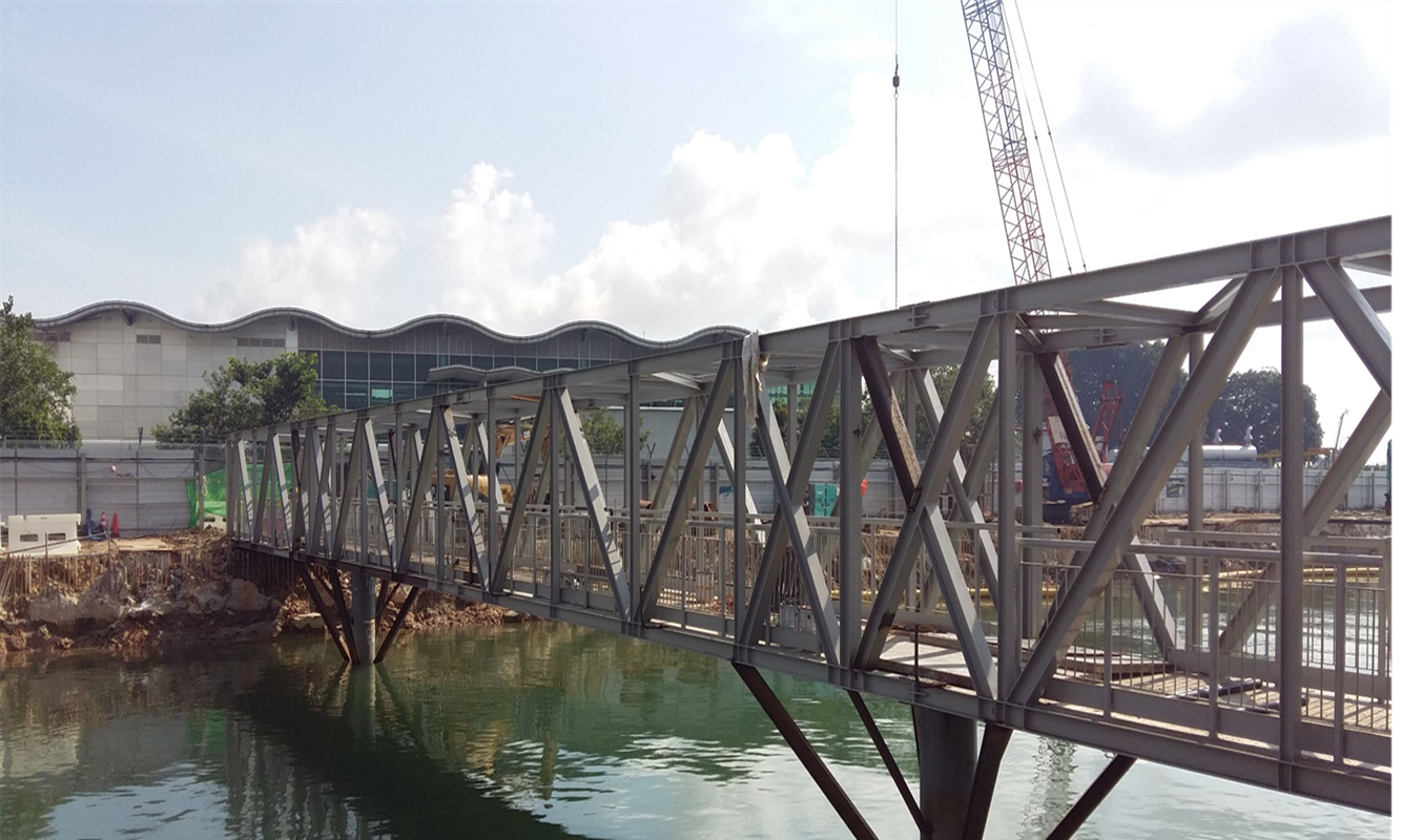 2016 Bedok Canal Improvement Contract 2, Footbridge – Structural Work