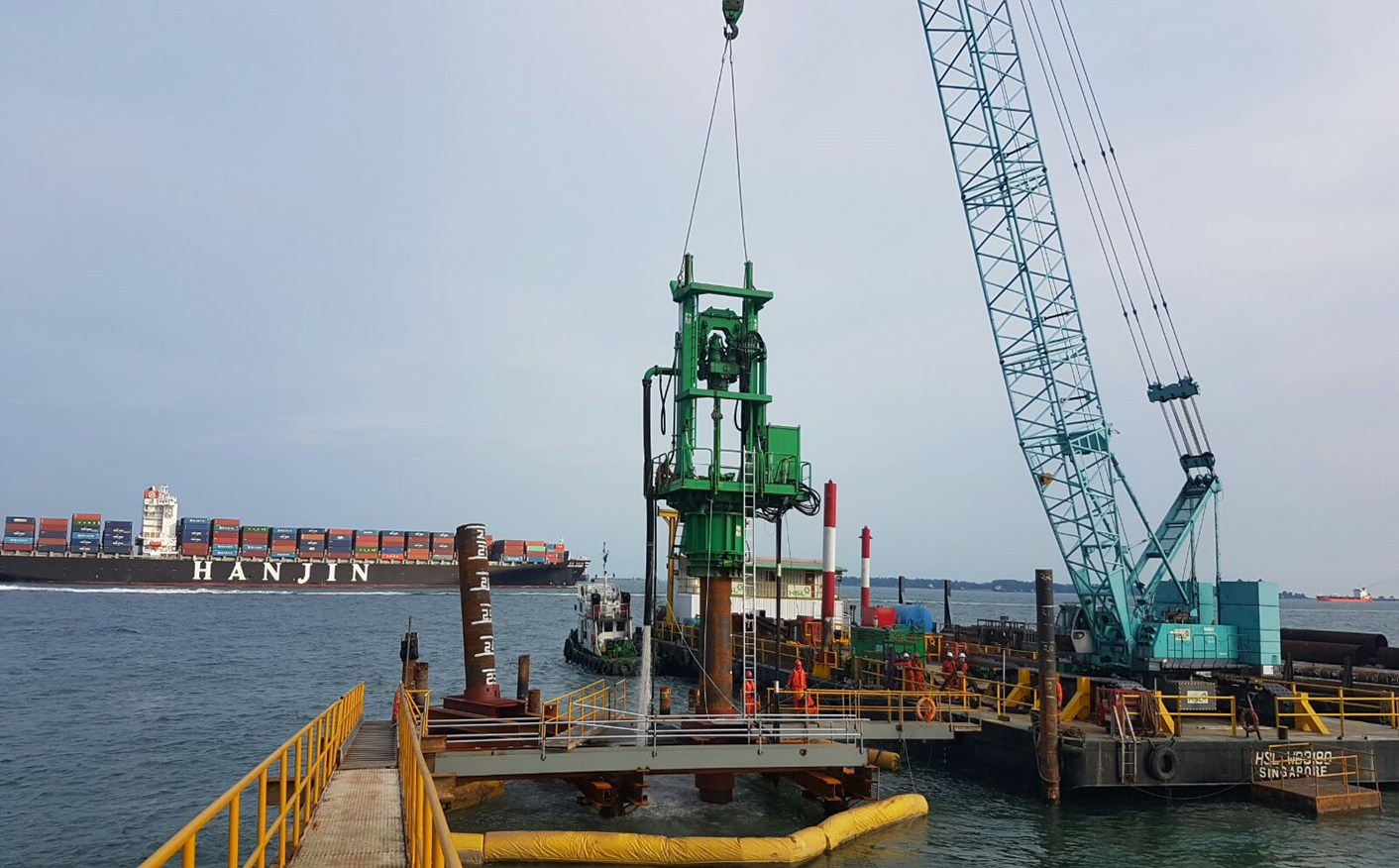 2016 PCS Naphtha Import Facilities berth 6, RCD Drilling