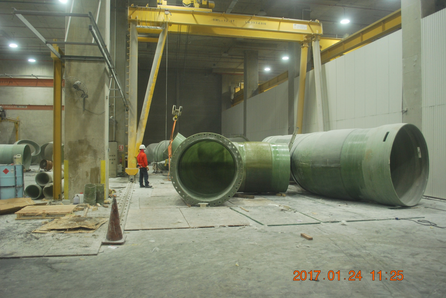 2016 Tuas Desalination Plant 3 Offshore Sea water Intake and outfall GRP Pipe Lamination