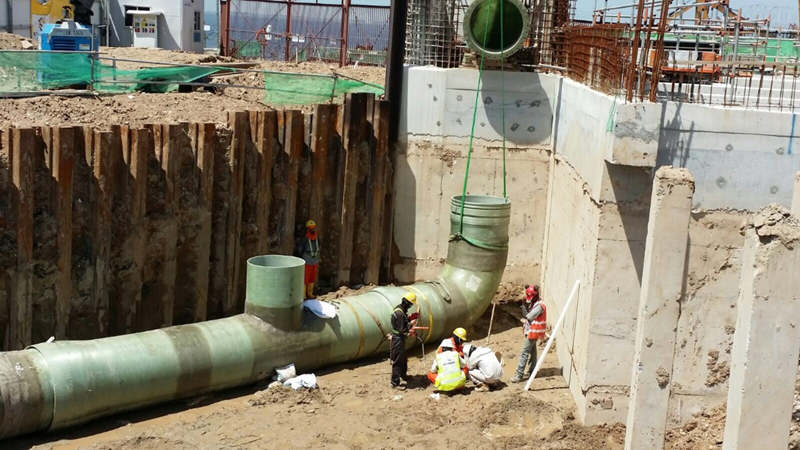 2016 Tuas Desalination Plant 3 Offshore On Land GRP Pipe Installation