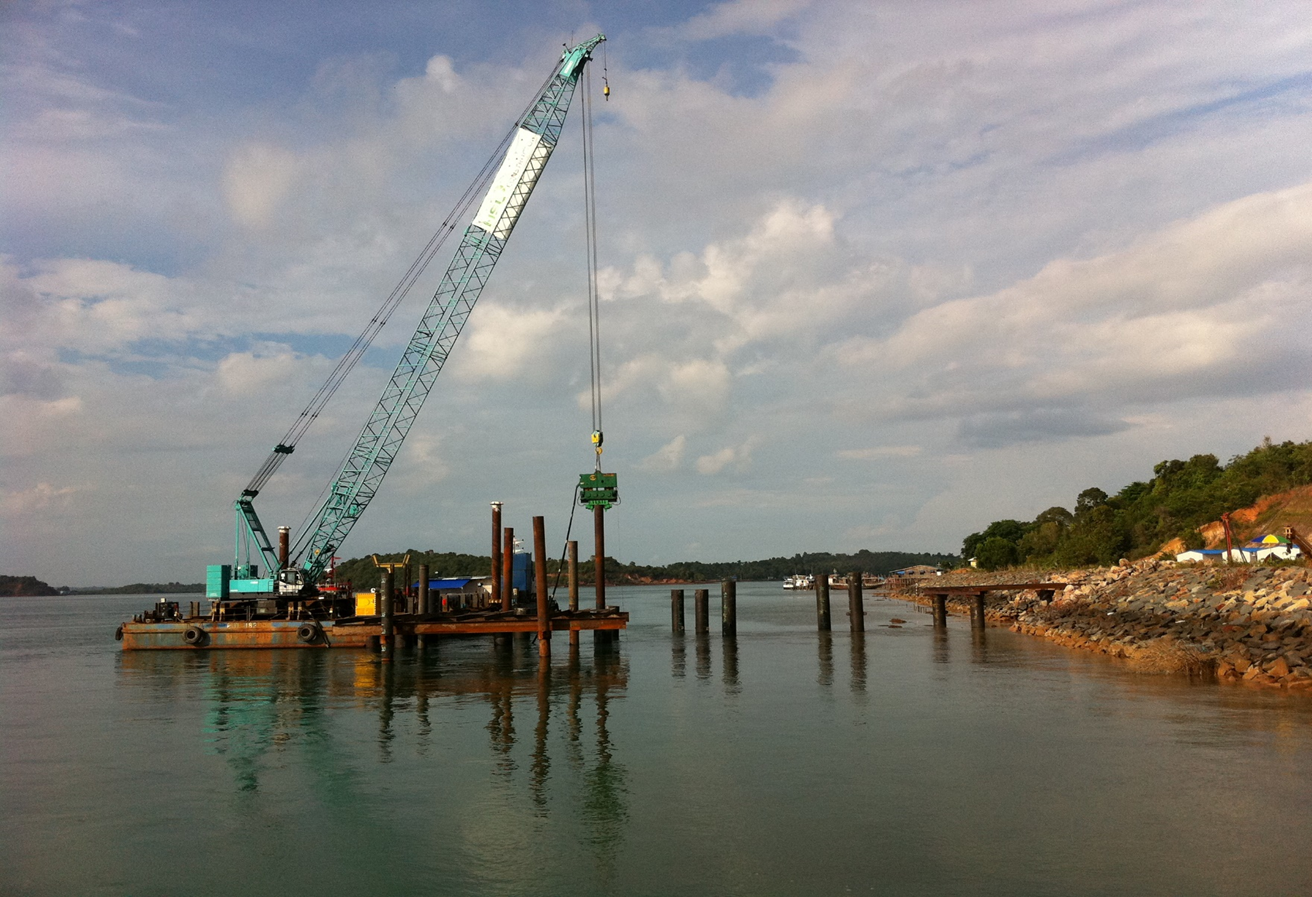 2010 Indonesia Batam Piling work for TSK Jetty Project