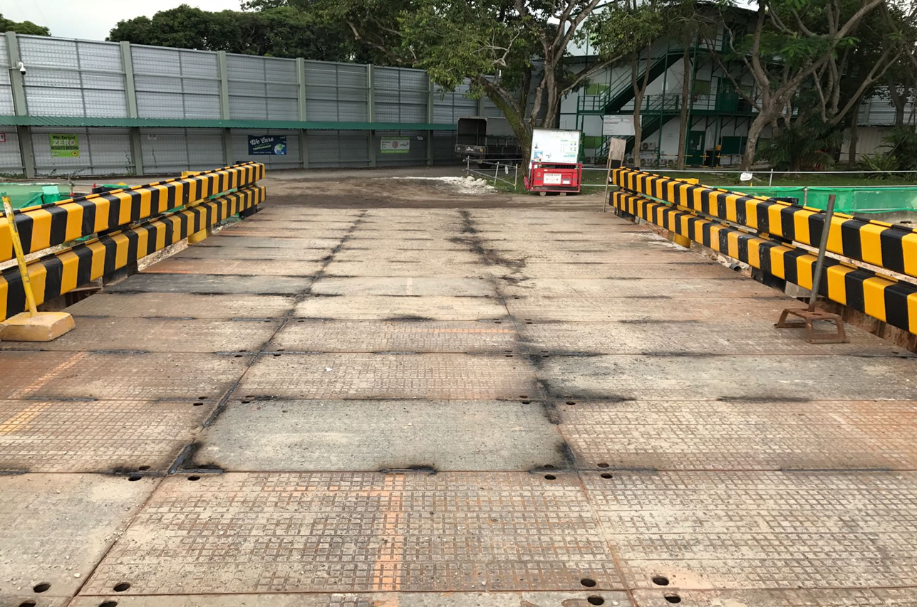 2016 Bedok Canal Improvement Contract 1, Construction Access Decking