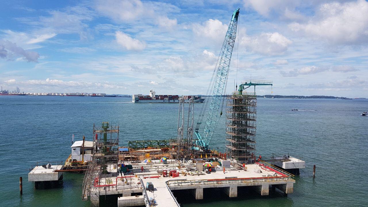 2016 PCS Naphtha Import Facilities berth 6, Construct Berth Foundation