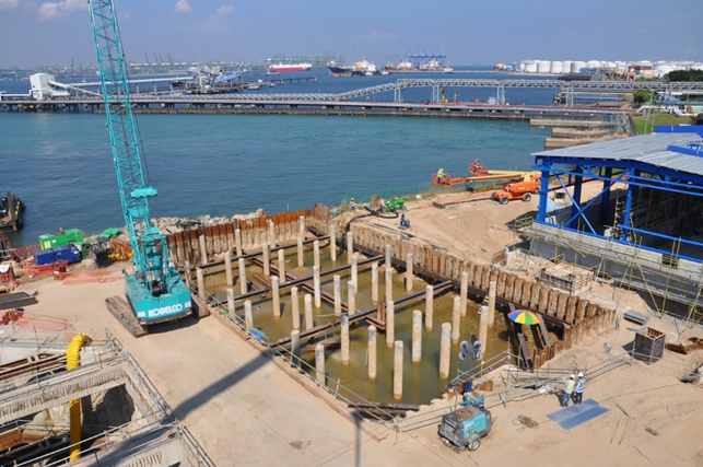 2011-2012 GMR Energy 2*400MW CCP Project, Sea Water Outfall, Size: 42.5L*15.7W*8.2D