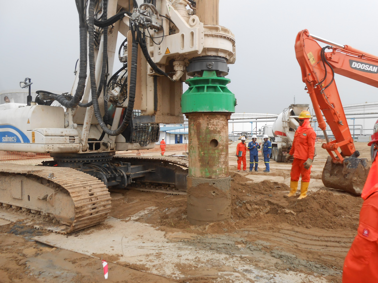 2015 SRC Cogen Mogas Project Test Pile Work ( Micro / Bore Pile Drilling)