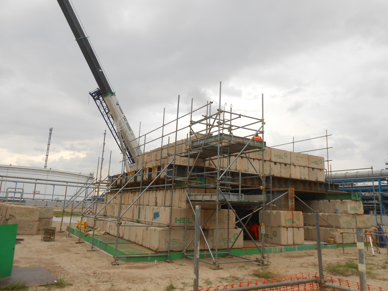 2015 SRC Cogen Mogas Project Test Pile Work ( Kentledge setting up) / Test Pile Work ( PDA test)