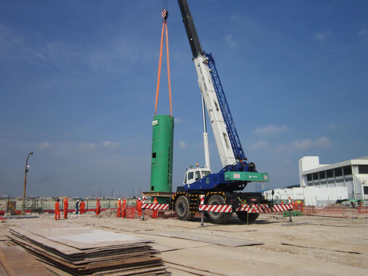 2015 SRC Cogen Mogas Project Test Pile Work ( Kentledge setting up) / Test Pile Work ( PDA test)