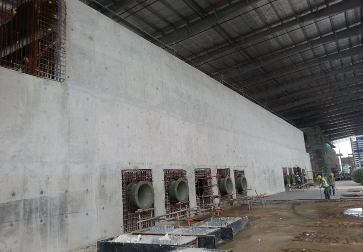 2016 Tuas Desalination Plant 3 Civil Package For RO Filter Tank
