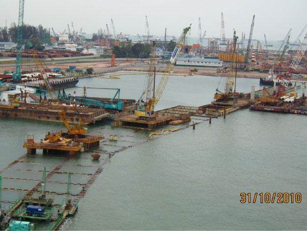 MCE481 Seawall Pre-Bore Works - 2010